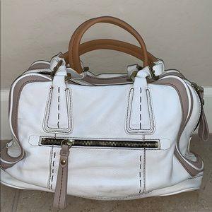 Off White Pebbled Leather orYANY Shoulder Bag
